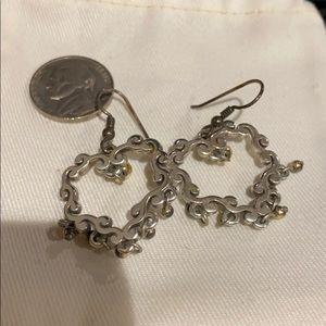 Brighton heart dangle earrings